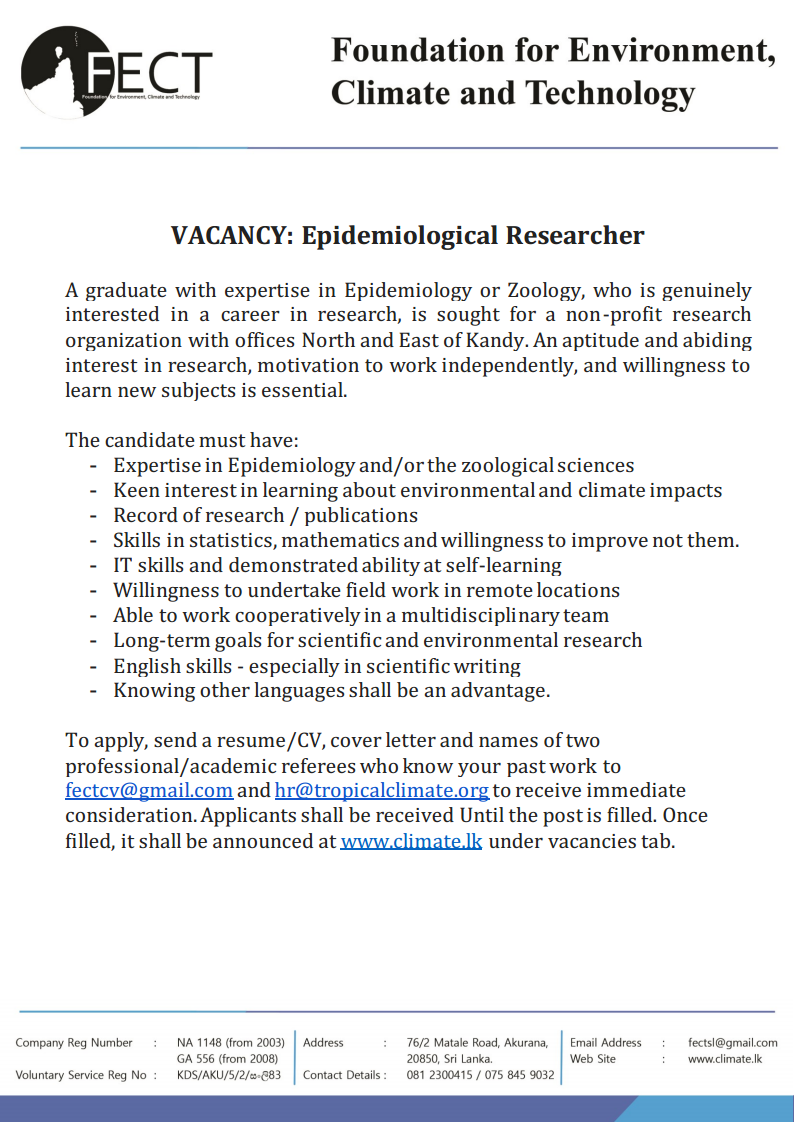 Researcher- Epdidemiological